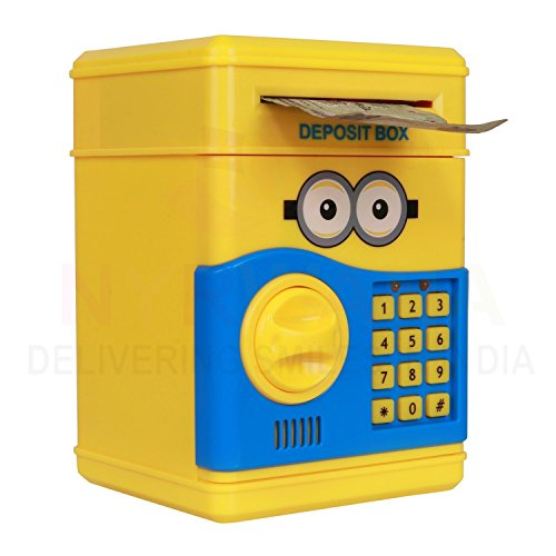 Speaking-Money-Safe-For-Kids-with-Smart-Electronic-Lock-Piggy-Bank-for-CoinBills-Yellow-Original-Merchandise-From-Minion-Series-Best-Quality-And-Durable