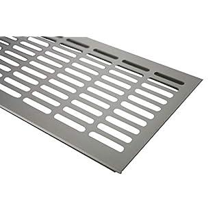 Aluminium Lüftungsgitter Stegblech Edelstahl Optik eloxiert Höhe 130mm x 1000mm