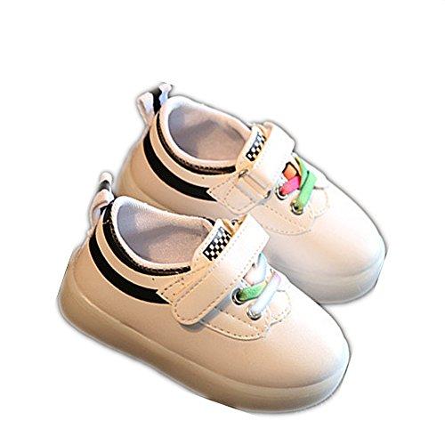 LED Sport Kinderschuhe, Chickwin Kinderschuhe Jungen Mädchen bunte LED-Leuchten Schuhe SportSchuhe Flashing Schuhe (Schwarz, 7) Uggs Große Kinder 7