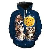 B-Pertand Lustige Bedruckte verzweifelte Maus 3 Katzen Lässige Pullover Sweatshirt Hochwertige Hoodies EUR GRÖSSE as The Picture XXXL
