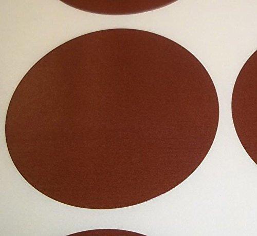 Pack Of 100 Grande 63mm Redondo / Circular Código De Color Lunares En blanco Precio Pegatinas Etiquetas - Elija Su Color/s (Marrón)