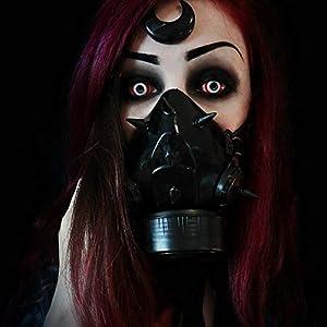 MB-Müller 87324-001-000 - Máscara de gas con pinchos UV, unisex, color negro