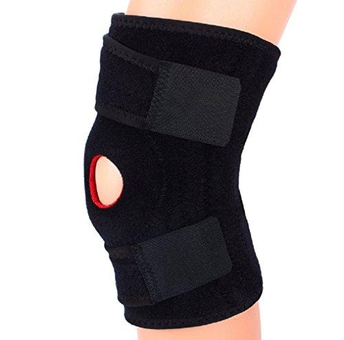 ONEGenug verstellbare Kniebandage Knieschützer aus atmungsaktivem Material fuer Laufen, Joggen, Fitness, Fußball oder jeder anderen Art von Training. Knieschoner Orthese zum Sport