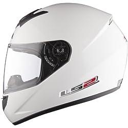 Casco de la Motocicleta LS2 FF351 Mono casco Integral Todos los Colores (S, Blanco)
