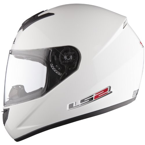 LS2 FF351 Single Mono – Casco de Moto Integral, ligero, blanco, talla S