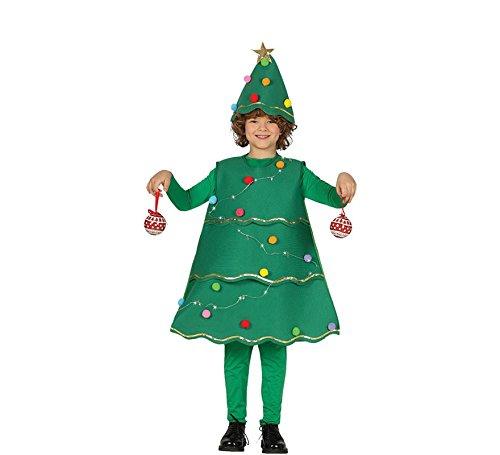 Guirca Costume Abete Albero Nataleluci Carnevale Bambino Bambina 4172_ 10-12 Anni