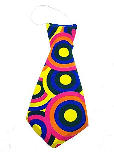 PICCOLI MONELLI Cravatta Pagliaccio Clown a Fantasia in PVC 30 cm Accessori Carnevale Set per Costume Uomo Donna Bambino Fantasia a Sorpresa