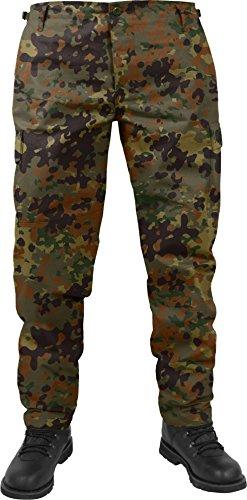 US Herren BDU Feldhose aus robustem Ripstop Material Farbe Flecktarn Größe L