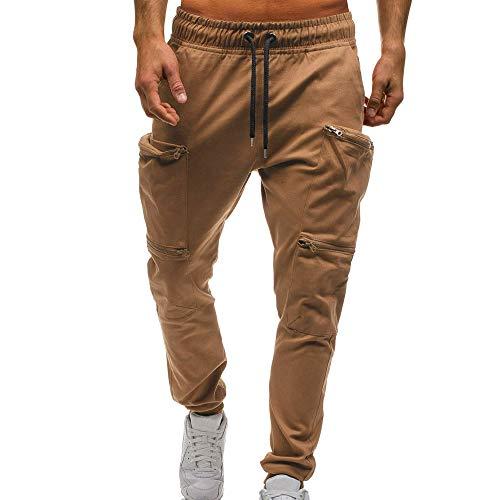 Bestow Pantalones de chándal clásicos con Cordones para Hombres Bolsillos  con Cremallera. b7b589724dcf