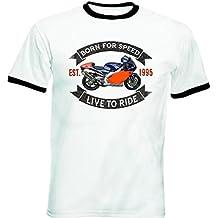 Teesandengines APRILIA RS 250 Tshirt de hombre con bordes negros