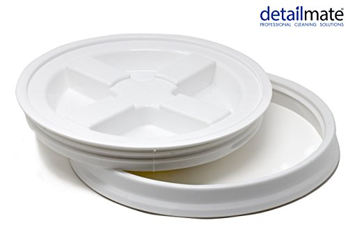 detailmate GritGuard Gamma Seal Eimerdeckel Weiß Passend für Grit Guard Wash Buckets Eimer, Passend für Meguiar´s
