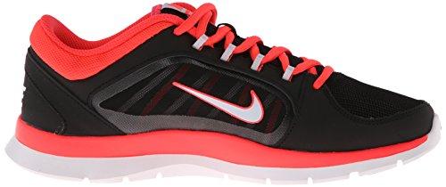 Nike Wmns Flex Trainer 4, Scarpe sportive, Donna black-pure platinum-laser crimson-laser crimson