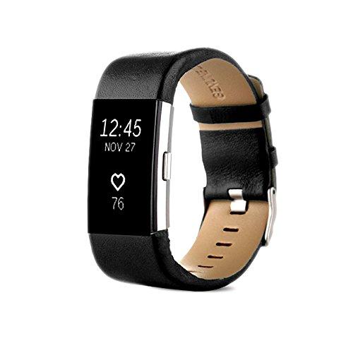 Fitbit Charge 2 Ersatz Armbänd Pinhen Charge2 Ersatz Luxe Echtes Leder Ersatzband Uhrarmband Ersatzband für Fitbit Charge 2