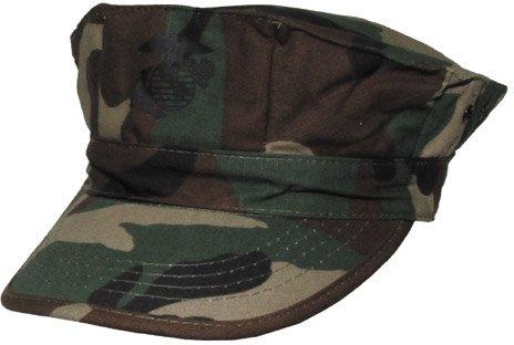 "Max Fuchs US Cap, ""USMC"", Rip Stop, woodland,mit Marine-Corp-Druck"