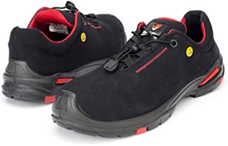 Samurai 1034288004 par de zapatos bajos Ruby S3 SRC ESD, Negro/Rojo, 42