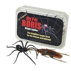 truco magic: My Pet Boris - Paquete Pro Magic Spider Arañas de Plástico para Truco de Magia
