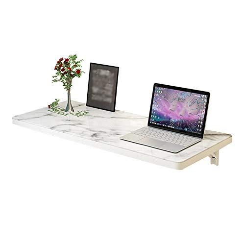 LIANGLIANG Wandklapptisch Schreibtisch Tische Wandtisch Wand-Klapptisch Haushalt Badezimmer Regal Faltbar Geschwungenes Design Sicherheit, 5 Größen (Color : White, Size : 100x40cm)
