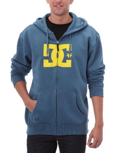 DC Shoes Herren Full Zip Hoodie Star, Blue Ashes, XL Dc Full Zip Sweatshirt