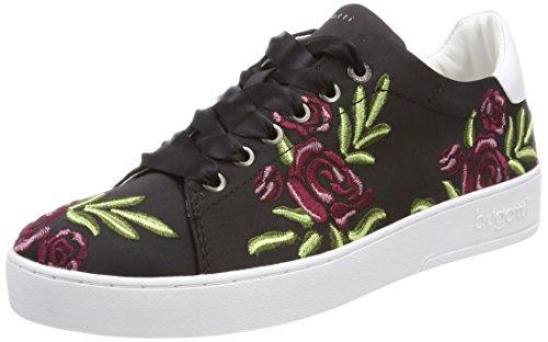 Bugatti Damen 421291056950 Sneaker Schwarz (Black/ Multicolour)