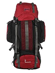 Impulse Climate Proof Mountain Rucksack / Hiking / Trekking / Camping Bag / Backpack 75 ltrs Red Rucksack with Rain Cover