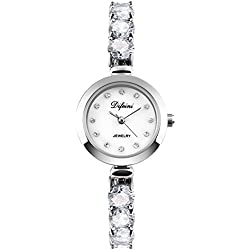 fashion ladies Bracelet Watch/Casual business watch/Waterproof quartz diamond watch-E
