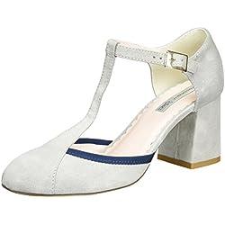 Tosca Blu Shoes Damen Spritz Pumps, Grau (Grigio Chiaro), 38 EU