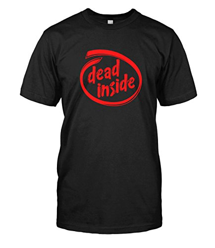 Intel Extreme Graphics (Dead Inside T-Shirt Funny Intel Inside Parody Zombie Tee Top (Large, Black))