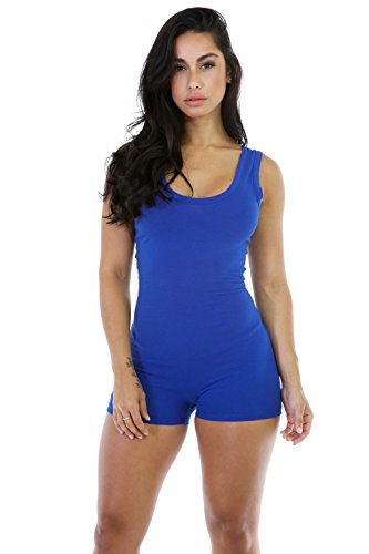 Qissy® Femmes Backless Sexy Sans Manches Sport Bodysuit Barboteuses Vêtements de Yoga Sports Rompers Bleu
