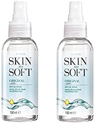 Avon Skin So Soft Original Dry Oil Body Spray with Jojoba 150 ml - Pack of 2