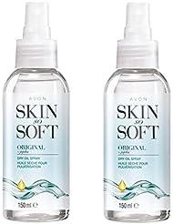 Avon Skin So Soft Original Huile sèche Spray pour le corps avec Jojoba 150ml–Lot de 2