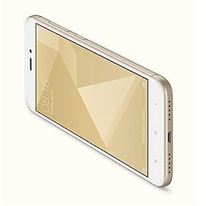 """Xiaomi Redmi 4x - Smartphone libre de 5"""" (4G, WiFi, Bluetooth, Snapdragon 435 1.4 GHz, 32 GB de ROM ampliable, 3 GB de RAM, cámara trasera de 13 Mp, Android MIUI, dual-SIM), oro [versión española]"""