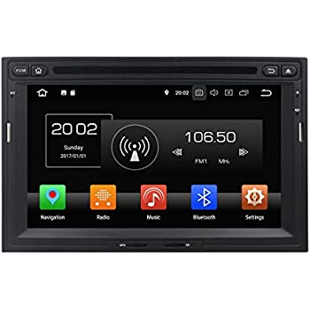 2din 7 Pulgadas Pantalla Táctil Capacitiva Coche Estéreo con GPS Navegación Android 8.0 OS para Peugeot 3008/5008 2010 2011 2012 2013 2014 2015 2016,Dab+ ...
