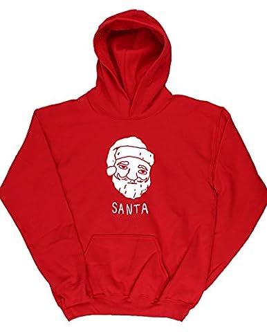 HippoWarehouse Santa face illustration kids children's unisex Hoodie hooded