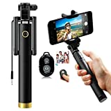 MR R KING&QUEEN Compact Selfie Stick Wireless and Wired Both for iPhone