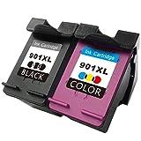 TooTwo Remanufacturé HP 901XL 901 Cartouches(1 Noir, 1 Tri-Couleur) Compatible pour HP Officejet 4500 4500 4500 J4500 J4524 J4525 J4535 J4540 J4550 J4580 J4585 J4600