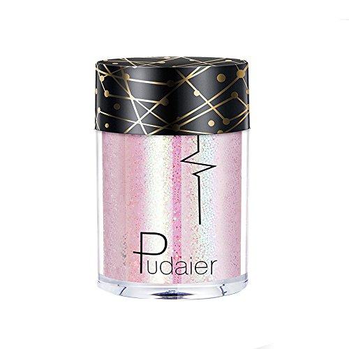 BHYDRY Mehrzweck-Shimmer-Glitter-Lidschatten-Pulver-Palette (Make-up Lidschatten Halloween-schwarzer)