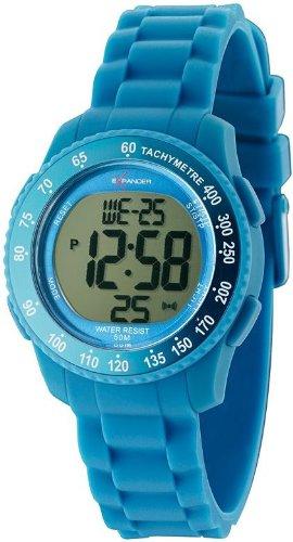 Sector - R3251572115 - Expander - Montre Mixte - Quartz Digital - Cadran Bleu - Bracelet Silicone Bleu