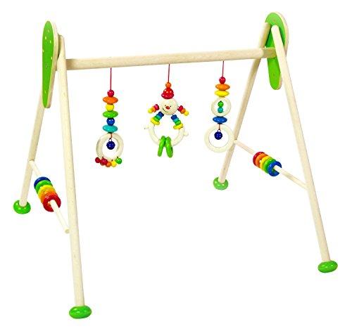 Hess Holzspielzeug 13378 Babyspielgerät aus Holz, Michel, ca. 62 x 55 x 50 cm