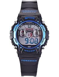 FSX-521B sport digitale LED resistente all'acqua Orologio da polso bambino ragazzo(blu)