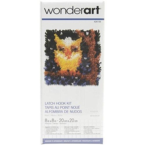 Spinrite Wonderart Latch Hook Kit, 8 by 8-Inch, Hoot by Spinrite (Wonderart Kits Latch-hook)