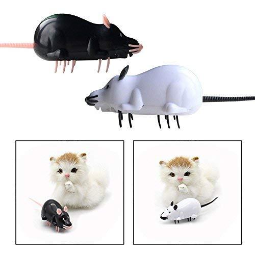 Menran Bälle Spielzeug 2 Stück Haustier Katzen Maus Spielzeug,Elektronische Wireless Controller Mäuse Spielzeug Bite Langlebig