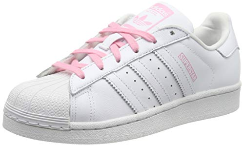 competitive price 8a3fe 0b000 adidas Unisex Kids  Superstar J Gymnastics Shoes FTWR White Light Pink, 4.5  UK