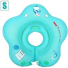 Yves25Tate Anillo de natación bebé con flotador doble globo Cuello grueso ajustable bebé ...