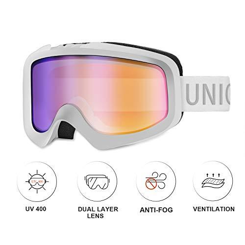 Unigear Skibrille, Snowboardbrille Schneebrille Ski Brille mit Sphärische&Zylindrische Magnetwechsel-Scheibe, UV-Schutz Beschlagschutz Augenschutz, für Skifahren Snowboarden Motorschlittenfahren