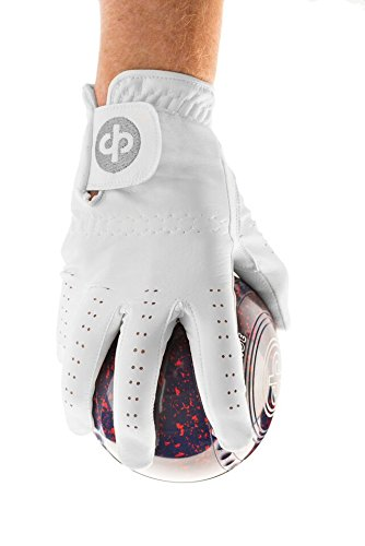 Price comparison product image Drakes Pride White Synthetic Bowling Glove Mens Left Hand Lge