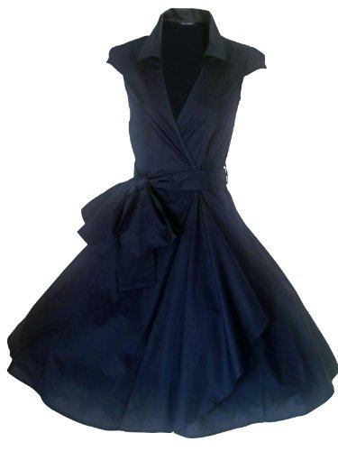 (look for the stars Damen Cocktail Kleid Blau Blau 40 Gr. 52, Mitternachtsblau)