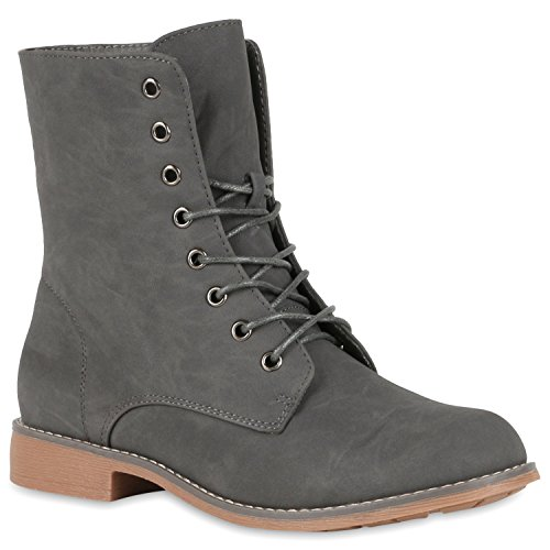 Calcanhar Bloco De E Boots Atacadores Lazer Femininas Sapatos Botas Cinza Ankle nz8A0qnOw