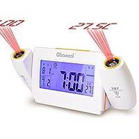 Zhong Zhi bedside alarm clock della moda/ temperatura e orologio elettronico piccolo/ mute creativo alarm clock-arancione