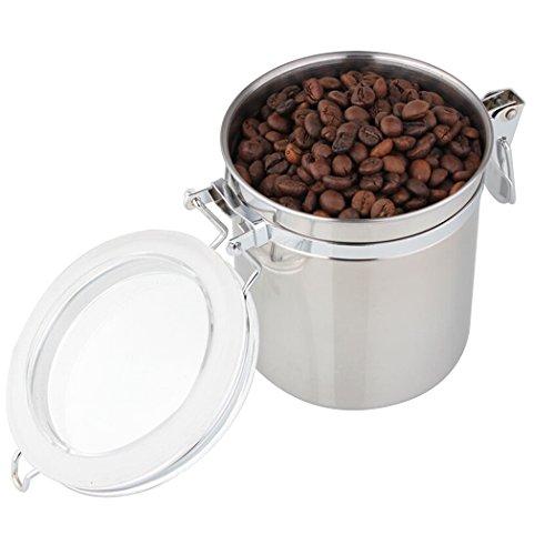 FUNRUI Edelstahl Kaffeedose Clip Top Kaffeebehälter Vorratsdosen Aromadose Luftdicht für...
