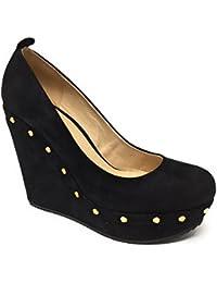 5f0eb0c11274 ALDO Women s PHILEN Suede Leather Pumps Wedged-Heel Platform High Heels  Genuine Leather Ladies Court